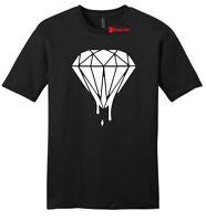 Dripping Diamond Mens Soft T Shirt  Music Criminal Gangster Melting Tee Z2