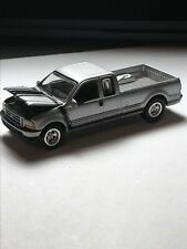 2000 Johnny Lightning Silver F-250 Extended Can Hood Open —1/64–loose—Super Nice