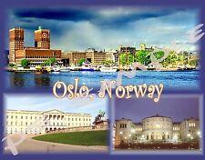 Norway - OSLO - Travel Souvenir Flexible Fridge Magnet