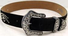 Justin Esmeralda C20441 Studded Black Suede Leather Belt Size 30
