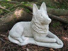 German Shepherd Statue, Concrete Dog Statues, Garden Decor, Pet Memorial,
