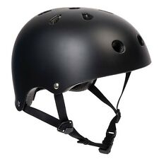 PEDALPRO MATT BLACK BMX/SKATE HELMET BIKE/BICYCLE/CYCLE/SCOOTER SAFETY BOMBER