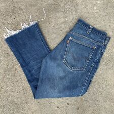 Vintage 70s Levis 646 Bell Bottoms Cut Hem Nice Wear Made In Usa Measures 33x27