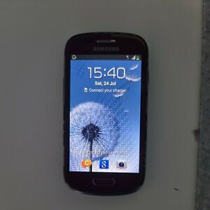 Samsung Galaxy S III Mini GT-I8200N - Red Phone (Unlocked) * cracked screen*