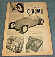 """1929 Ford Model A Highboy Roadster Vintage Bonneville LSR Article """"C-Bomb"""""""