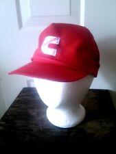 Vtg Embroidered Cummins C #5 Signature Trucker Hat Flat Bill Snap Back Red NEW