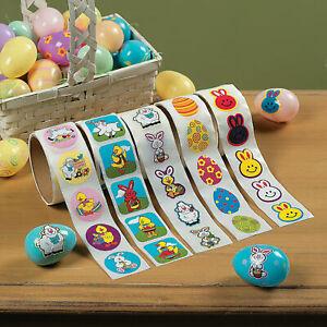 Bulk Easter Roll Sticker Assortment ~ 5 Rolls ~  Treasure Box ~ 500 Stickers