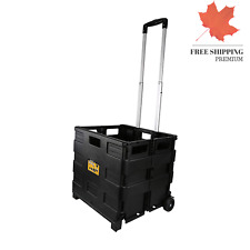 Grand Pack-N-Roll Portable Tools Carrier Plastic Foldable Crate Telescopic Ha...