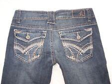 Womens Hydraulic Bailey Slim Flare Blue Jeans Size 9/10 Pockets Embellished NWT