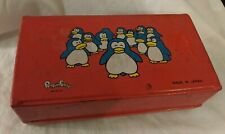 Vintage Suntory Beer Can Penguin Family Red Case