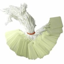 1000 x 42mm x 27mm White Strung String Tags Swing Price Tickets Tie On Labels