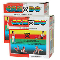 CanDo Latex Free Exercise Band - 100 yard (2 x 50 yard rolls) - Red - light