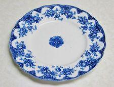 Upper Hanley Pottery Flow Blue VICTORIA Dinner Plate - 9 3/4 inch
