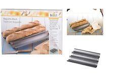 Birkmann: Baguette Blech: molde para el horno para pan de metal microforate