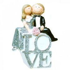 Spardose Silberhochzeit LOVE Brautpaar Geschenk silberene Hochzeit Geldgeschenk