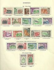 1951  Dominica, fine used sets.