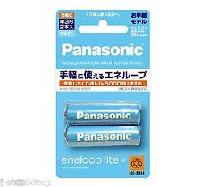 New! 2 Panasonic Eneloop Lite 5000 Times Rechargeable NiMH Batteries AA 950mAh