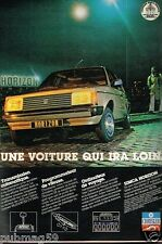 Publicité advertising 1979 Chrysler Simca Horizon