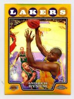 2008-09 Topps Chrome ANDREW BYNUM #110 GOLD REFRACTOR #/50 Los Angeles Lakers SP