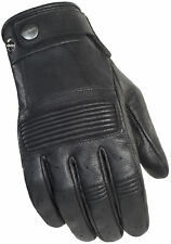 Cortech Mens Rustic Black Duster Leather Motorcycle Gloves