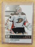 2019-20 Upper Deck UD Sp Authentic JOHN GIBSON #SPE-JG SP Essentials Ducks