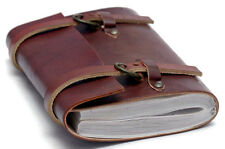 Vintage Look Handmade Leather Journal Buckle Diary Travel Planner Notebook 6x4