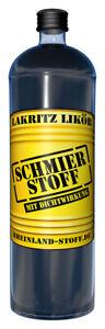 Schmierstoff 0,7 l | intensiver Lakritz-Likör | origineller Partylikör