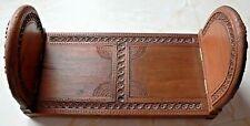 Vintage Hand Carved Wooden Bookend, Sliding & Adjustable