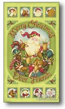 Christmas Jingle All The Way, Nancy Halvorsen Patchwork Quilting Craft Panel