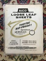"Vintage AICO Loose Leaf Filler Ring Book Sheets Paper 11x 8 1/2"" FH4"