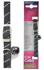 Ancol Softweave Safety Elastic Cat Collar Black » 30cm