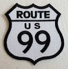 "ROUTE 99 PATCH 3"" Cloth Badge/Emblem Biker Jacket Bag American Highway USA Road"