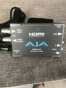 AJA HI5 HD-SDI/SDI to HDMI Video Audio Converter 2 Channel RCA. W/Power Supply