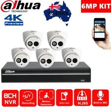 Dahua 8CH 4K NVR & 6MP IPC-HDW4631C-A Built-in MIC CCTV Security Camera KIT HOME