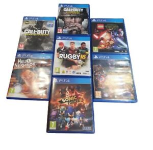 PS4 Games Assorted Titles Sold Separately