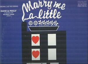 MARRY ME A LITTLE/Original Cast/Stephen Sondheim/RCA LP ABL1-4159 with Insert