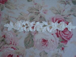 "Flexible Antique Roses & Leaves Garland Molding Trim Furniture Applique 14"""