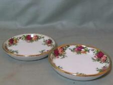 "2 Royal Albert old country roses Coasters 3.5"" (lot b)"