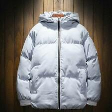 Mens Short Cotton Down Jacket Short Puffer Parka Thick Embroidered Outwear Thick
