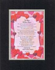 Handmade Inspirational Plaque for Love -  The Size of Your Heart... Poem