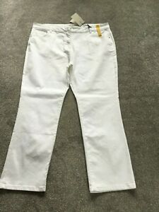 TU LADIES BRAND NEW WHITE STRAIGHT LEG JEANS - SIZE 22 REGULAR