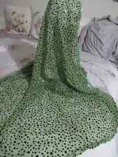 beautiful flower squence net  long  hijab  shayla