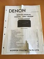 DENON DN-1200F CD Changer Service Manual - Factory Original