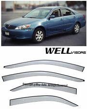 For 02-06 Camry WellVisors Side Window Visors Premium Series Rain Guard