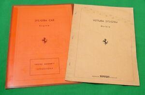Ferrari 275GTB4 - Engine Assembly Technical Manuals(2) Ita & Eng Text c.1967-70