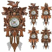 Vintage Handcraft Wood Cuckoo Wall Clock HouseTree Style Home Room Art Decor