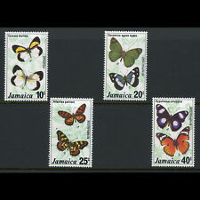 JAMAICA 1977 Butterflies. SG 429-432. Mint Never Hinged. (AT534)