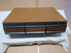 Vintage 3 Drawer Cassette Tape Storage Case Holder 42 Tapes Total