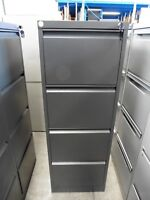 OFFICE 4 X DRAWER STEEL FILING CABINET CHARCOAL GREY BRISBANE
