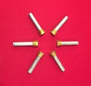 "6 Pencil Zinc 3/4"" Brass Cap 3 3/8"" Long Camp E4C"